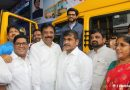 Shri Aditya Thackeray, Sachin and Sangeeta Ahir inaugurate School Bus Service for Girl Child in Worli