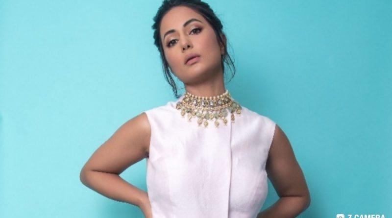 The beautiful Hina Khan dressed in KALKI Fashion'sfestive fusion look!